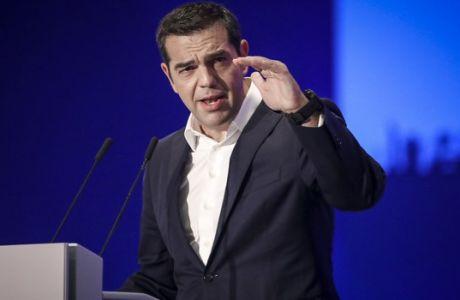 """Ομιλία του Πρωθυπουργού Αλέξη Τσίπρα, στην τελετή εγκαινίων της 83ης ΔΕΘ, στο Συνεδριακό Κέντρο """"Ιωάννης Βελλίδης"""", στην Θεσσαλονίκη το Σάββατο 8 Σεπτεμβρίου 2018. (ΜΟΤΙΟΝΤΕΑΜ/ΒΑΣΙΛΗΣ ΒΕΡΒΕΡΙΔΗΣ)"""