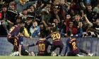 Οι ποδοσφαιριστές της Μπαρτσελόνα πανηγυρίζουν το γκολ που σημείωσε ο Λιονέλ Μέσι στη νίκη επί της Λίβερπουλ για τον πρώτο ημιτελικό του Champions League 2018-2019 στο 'Καμπ Νόου', Βαρκελόνη, Τετάρτη 1 Μαΐου 2019