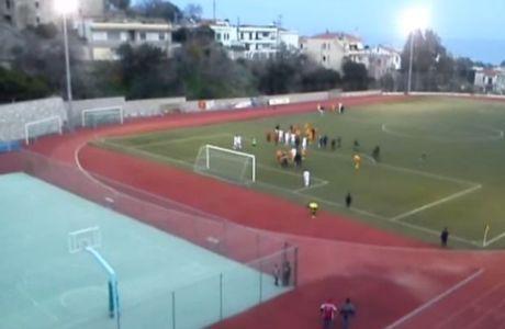 Ξύλο σε αγώνα τοπικού στην Χίο (VIDEO)