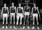 O Παναθηναϊκός του Κυπέλλου Πρωταθλητριών 1968-69: Ιορδανίδης, Πέππας, Κολοκυθάς, Κέρκλαντ και Κέφαλος