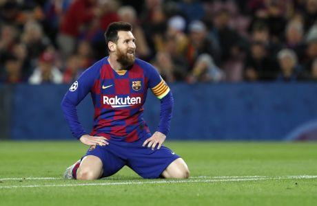 Ο Λιονέλ Μέσι της Μπαρτσελόνα σε στιγμιότυπο κατά τη διάρκεια της αναμέτρησης με τη Σλάβια Πράγας για τη φάση των ομίλων του Champions League 2019-2020 στο 'Καμπ Νόου', Βαρκελώνη, Τρίτη 5 Νοεμβρίου 2019