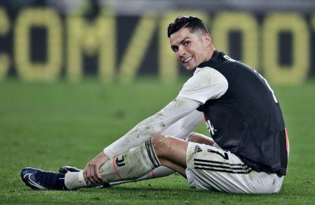Ο Κριστιάνο Ρονάλντο της Γιουβέντους σε στιγμιότυπο κόντρα στην Μπολόνια για τη Serie A 2019-2020 στο 'Άλιαντς Στέιντιουμ', Τορίνο, Σάββατο 19 Οκτωβρίου 2019