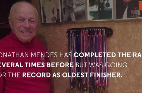 Ο απίθανος 96άρης που τερματίζει στο μαραθώνιο και πίνει... ουίσκι (VIDEO)