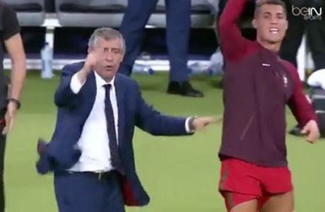 Επικό VIDEO: Ο... προπονητής Ροναλντο δίνει ρεσιτάλ στον πάγκο