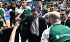Ο προπονητής του Παναθηναϊκού, Ρικ Πιτίνο, δίνει οδηγίες σε time out κατά τη διάρκεια του αγώνα με το Περιστέρι για την ΕΚΟ Basket League 2019-2020 στο 'Ανδρέα Παπανδρέου', Κυριακή 15 Δεκεμβρίου 2019