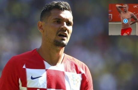 Croatia's Dejan Lovren during a friendly soccer match between Brazil and Croatia at Anfield Stadium in Liverpool, England, Sunday, June 3, 2018. (AP Photo/Dave Thompson)