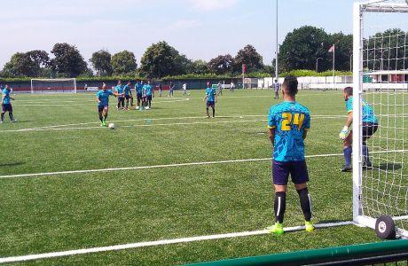 Παίκτες της ομάδας Τουβάλου σε προπόνηση