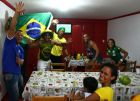 PORTO SEGURO, BRAZIL - JUNE 12: Brazil fans cheer their team during the Group A match between Brazil and Croatia on June 12, 2014 in Porto Seguro, Brazil. (Photo by Martin Rose/Getty Images)