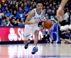 Duke's Jordan Goldwire (14) brings the ball up the floor against North Carolina State during the second half of an NCAA college basketball game in Durham, N.C., Saturday, Feb. 16, 2019. (AP Photo/Chris Seward)