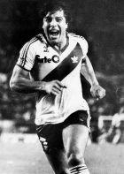 Ο Φούνες πανηγυρίζει το γκολ του επί της Αμέρικα δε Κάλι (29/10/1986).