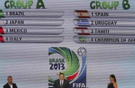 H κλήρωση του Confederations Cup