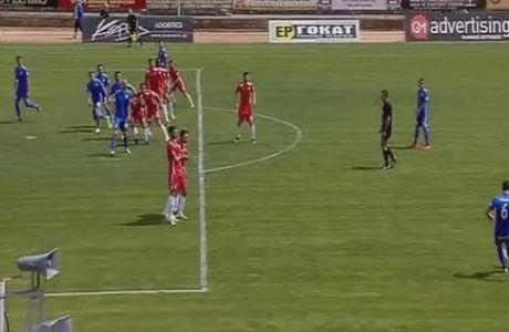 ΑΠΙΘΑΝΟ! Πέντε παίκτες οφσάιντ στο γκολ της Λαμίας