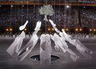 Στιγμιότυπο από την τέλετη έναρξης των Ολυμπιακών Αγώνων 2004, σε σκηνοθεσία Δημήτρη Παπαιωάννου, Ολυμπιακό Στάδιο, Παρασκευή 13 Αυγούστου 2004