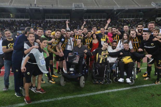 Συγκίνηση: Ο ξεχωριστός πανηγυρισμός των παικτών της ΑΕΚ