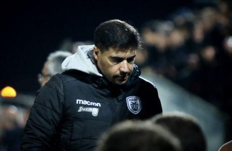 Ο προπονητής του ΠΑΟΚ, Αμπέλ Φερέιρα, σε στιγμιότυπο της φιλικής αναμέτρησης με τη Δόξα Δράμας στο γήπεδο της Δράμας, Τετάρτη 13 Νοεμβρίου 2019