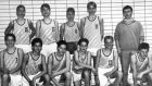 WUERZBURG, GERMANY - SEPTEMBER 10:  Dirk Nowitzki poses with his youth team on September 10, 1991 in Wuerzburg, Germany.  (Photo by Holger Sauer/Getty Images)