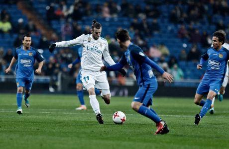 Ο Γκάρεθ Μπέιλ της Ρεάλ Μαδρίτης σε στιγμιότυπο της αναμέτρησης με τη Φουενλαμπράδα για τον δεύτερο αγώνα της φάσης των 32 του Copa del Rey 2017-2018 στο 'Σαντιάγο Μπερναμπέου', Τρίτη 28 Νοεμβρίου 2017