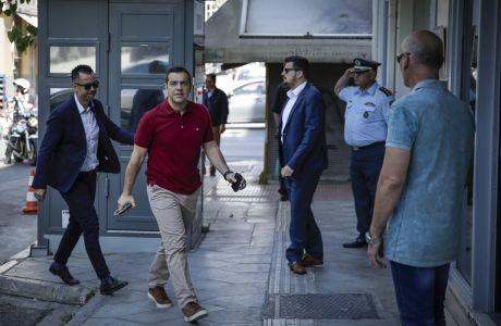 Συνεδρίαση της Πολιτικής Γραμματείας του ΣΥΡΙΖΑ το Σάββατο, 12 Μαΐου 2018, στα κεντρικά γραφεία του κόμματος. Στην συνεδρίαση συζητήθηκαν οι πολιτικές εξελίξεις και η προσεχής συνεδρίαση της Κεντρικής Πολιτικής Επιτροπής του κόμματος. (EUROKINISSI/ΣΤΕΛΙΟΣ ΜΙΣΙΝΑΣ)