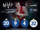 MVP της τρίτης αγωνιστικής της Stoiximan.gr Basket League ο Δημήτρης Αγραβάνης