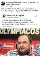 Ο Ουαντού θυμήθηκε Ολυμπιακό και αποθέωσε Μαρινάκη!