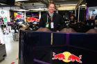 MONTREAL, QC - JUNE 07:  Actor Hugh Grant visits the Infiniti Red Bull Racing garage during practice for the Canadian Formula One Grand Prix at the Circuit Gilles Villeneuve on June 7, 2013 in Montreal, Canada.  (Photo by Mark Thompson/Getty Images) *** Local Caption *** Hugh Grant