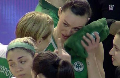 Δάκρυα από τις παίκτριες του Παναθηναϊκού στον χαμένο τελικό