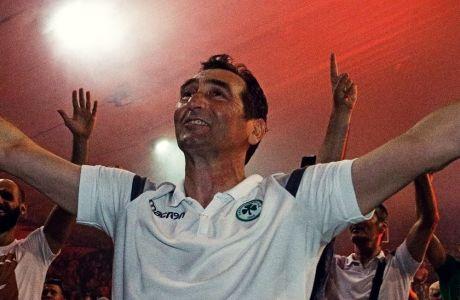 Ο Δημήτρης Ανδρεόπουλος υπήρξε ο πρωτεργάτης της αγωνιστικής αναγέννησης στο τμήμα βόλεϊ του Παναθηναϊκού
