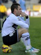Parma's Antonio Cassano reacts at the end of a Serie A soccer match against Lazio, at Parma's Tardini stadium, Italy, Sunday, Dec. 7, 2014. Lazio moved fifth with a 2-1 win at bottom club Parma. (AP Photo/Marco Vasini)