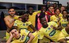 Ο Κουλούρης και οι συμπαίκτες του στην Τουλούζ πανηγυρίζουν την πρόκριση επί της Μπορντό στο κύπελλο