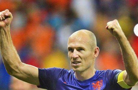 Ο Ρόμπεν ανοίγει το σκορ για την Ολλανδία