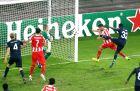 Ο Φουστέρ πετυχαίνει το 1-0 επί της Μάλμε στο τελικό 4-2 του Ολυμπιακού (9/12/2014).