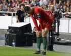 """O Κριστιάνο Ρονάλντο σε στιγμιότυπο από την αναμέτρηση της Πορτογαλίας με την Σερβία στο στάδιο """"Luz"""" της Λισσαβώνας για τα προκριματικά του Euro 2020"""