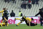Παίκτες της ΑΕΚ πανηγυρίζουν γκολ κόντρα στον Παναθηναϊκό σε αναμέτρηση για τον 2ο προημιτελικό το Κυπέλλου Ελλάδας 2010-2011 στο Ολυμπιακό Στάδιο, Τετάρτη 2 Φεβρουαρίου 2011