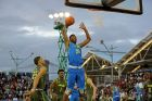 Team Freedom's Harry Giles #31 in action against Team Liberty during the Under Armour Elite 24 Game on Saturday, August 23, 2014 in Brooklyn, NY.  (AP Photo/Gregory Payan)