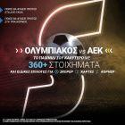 Ολυμπιακός-ΑΕΚ με 360+ στοιχήματα στο Stoiximan.gr