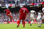 File photo dated 13-05-2006 of  Liverpool's Steven Gerrard scoring against West Ham in the FA Cup Final. PRESS ASSOCIATION Photo. Issue date: Friday January 2, 2015. Liverpool midfielder Steven Gerrard has scored a number of crucial goals during the course of his career for the Reds. See PA story SOCCER Gerrard Goals. Photo credit should read David Davies/PA Wire.