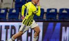 Ο Δημήτρης Πέλκας πανηγυρίζει το γκολ που πέτυχε στην αναμέτρηση με την Μπασακσεχίρ