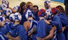 Ο Γιώργος Μορφέσης τη στιγμή που δίνει οδηγίες στα κορίτσια της Εθνικής ομάδας