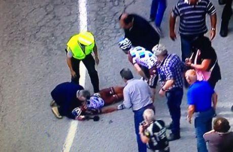 Σοβαρό ατύχημα στο Γύρο Ιταλίας (VIDEO)