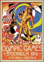 1 Jan 1999:  An offical poster from the 1912 Stockholm Olympic Games on display at the IOC Olympic Museum in Lausanne, Switzerland. \ Mandatory Credit: IOC Olympic Museum /Allsport