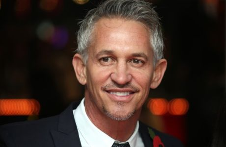 Gary Lineker poses for photographers upon arrival to the world premiere of the film The Hunger Games Mockingjay Part 1 in London, Monday, Nov. 10, 2014. (Photo by Joel Ryan/Invision/AP)