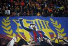 Barcelona supporters display a banner with a picture of Lionel Messi during the Champions League round of sixteen second leg soccer match between FC Barcelona and Chelsea at the Camp Nou stadium in Barcelona, Spain, Wednesday, March 14, 2018. (AP Photo/Manu Fernandez)