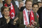 Henri, Grand Duke of Luxembourg, and Maria Teresa, Grand Duchess of Luxembourg, attend the Group F Europa League soccer match between F91 Dudelange and AC Milan at the Josey Barthel stadium in Dudelange, Luxembourg, Thursday, Sept. 20, 2018. (AP Photo/Olivier Matthys)