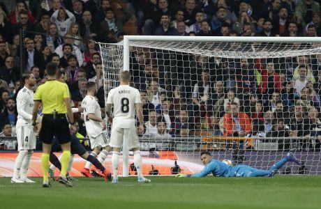 Στιγμιότυπο της αναμέτρησης Μπαρτσελόνα - Ρεαλ για το Copa Del Rey, Φεβρουάριος 2019
