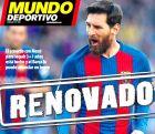 """Το πρωτοσέλιδο της Mundo Deportivo στις 5 Ιουλίου 2017 με τίτλο """"Ανανέωσε""""."""