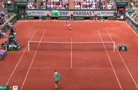 Χτύπημα αλά Ρομπέρτο Κάρλος σε αγώνα τένις