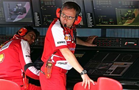 O Στέφανο Ντομενικάλι ήταν ο team principal της Ferrari, στο τελευταίο της πρωτάθλημα. Από του χρόνου θα είναι το αφεντικό της Formula 1.