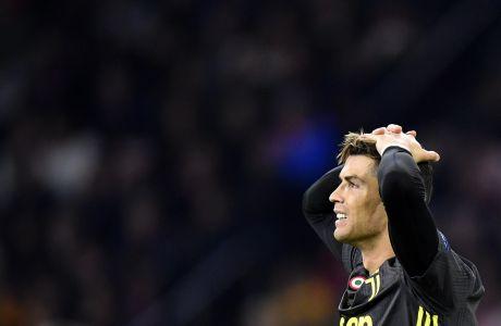 O Κριστιάνο Ρονάλντο σε εμφάνιση του στα προκριματικά του Champions League ενάντια στον Άγιαξ