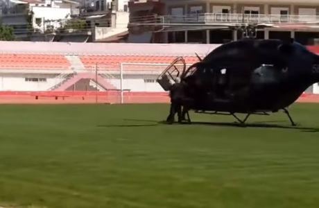 Προσγείωση του Ιβάν στο γήπεδο και υποδοχή από Μπεό
