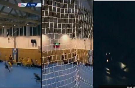 Απίστευτο: Κατέρρευσε η οροφή την ώρα του ματς!